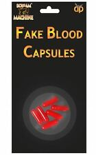 REALISTIC EFFECT DRACULA VAMPIRE x6 FAKE BLOOD CAPSULES MAKE UP HALLOWEEN