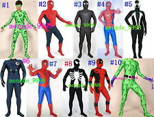 LYCRA SPANDEX ZENTAI FANCY CATSUIT COSTUMES 10 STYLE HALLOWEEN COSPLAY COSTUMES