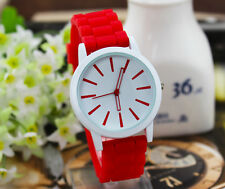 Fashion Classic Geneva Silicone quartz Watch Jelly women Rhinestone watch feel