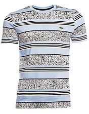 Lacoste Live Striped Lagoon T-SHIRTS NEW MEN's Ultra Slim Fit Crew Neck Shirt