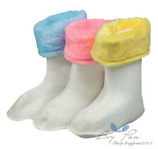 1 Pair Kids Toddlers Boy Girl Unisex Top-Sider Warm Rain Boot Galoshes Pad Socks