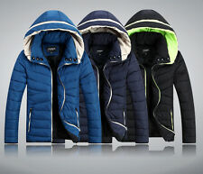 2015 Slim New Men's Casual Coat Down Cotton Padded Winter Thicker hooded Jacket