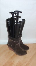 NEW Clarks womens brown suede wedge heeled ankle boots - various sizes