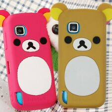 1x Lovely Cute Relax Teddy Bear Silicone Cover Case For Nokia Mobile Cell Phones