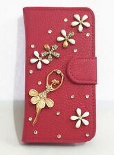 3D Ballet Bling Diamond Flip Pouch PU Leather Wallet Cover Case for Nokia Phones