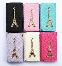 Bling Tower Chrome Wallet Purse Style PU Leather Case Cover Pouch for Samsung 2