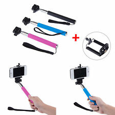 Extendable Monopod Handheld Self Portrait Selfie Stick Holder for iPhone Samsung