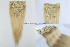 #22 Beige Blonde Full Head Clip in 100% Remy STW Human Hair Extensions C09