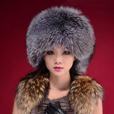 Ladies Faux Fur Russian Pillbox Hat Womens Black White Grey Warm Winter Hat