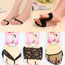 1 Pair High-heeled Soft Shoes Antiskid Slip Forefoot Stealth Ottomans Half Mat