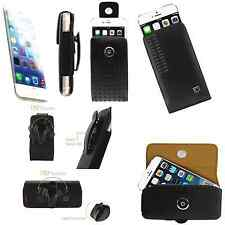 """Apple iphone 6 4.7"""" Leather Case Pouch With Rotating Swivel Holster Belt Clip"""