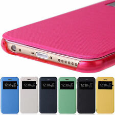 "ETUI HOUSSE COQUE FLIP COVER VIEW POUR Apple iPhone 6 4.7"" & 6 Plus 5.5"""