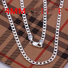 HOT sale! 925 Sterling Silver 4mm chain Men's Necklace 18 to 30 Inch