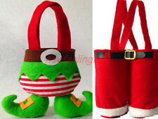 2014 Christmas Gift Elf Candy bag Santas Pants handbag Sack Stocking Decoration