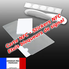 Carte NFC Sticker sans contact Touchless Tag nfc vierge   compatible IPHONE 6 ..