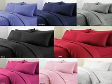 Plain Bed Set Quilt Cover Single Double & King Size Duvet Cover with Pillow Case