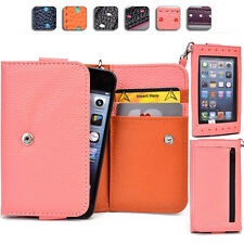"Ladies Touch Responsive Wrist-let Wallet Case Clutch AM|B fits 4.5"" Cell Phone"