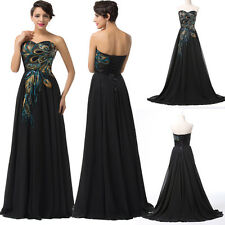 2014 UK CHEAP Formal Long Evening Cocktail Party Bridesmaid Victorian Dress 6-20