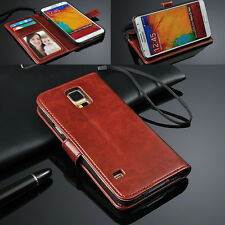 Luxury Leather Card Photo Slot Flip Wallet Case Cover For Samsung Galaxy Phone