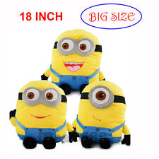 Despicable Me Minion 3D Dave Jorge Stewart Plush Soft Toy Cushion Easter Gifts