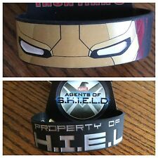 Marvel IRON MAN 3 & AGENTS OF SHIELD WRISTBANDS- OSFA - BRAND NEW IN PACKAGE