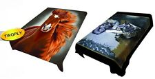 2PLY ULTRA SOFT REVERSIBLE SOFT MINK QUEEN BLANKET 9 DESIGNS DIFFERENT ON 2 SIDE