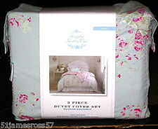 Simply Shabby Chic Faded Paper Rose FULL/QUEEN Duvet Set