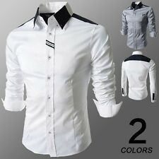 Fashion Mens Luxury Long Sleeve Casual Slim Fit Stylish Dress Shirts CS18