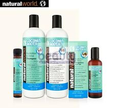 NATURAL WORLD COCONUT WATER HYDRATION &SHINE SHAMPOO,CONDITIONER AND OIL