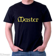MASTER T SHIRT Lots of Colours Gothic Submissive 50 Shades slave bdsm bondage