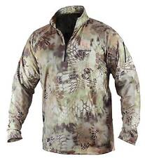 New Dead Deer Torid 1/4 zip Long Sleeve Shirt Kryptek Highlander Camo #DDAQZ