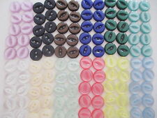10 25 or 100 - Fish Eye Round Plastic Buttons - Size 18 22 26 - 18 Colours