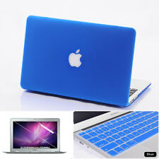 3in1 Royal Blue Rubberized Hard Case KB Cover For Macbook Air Pro 11 13 15 inch
