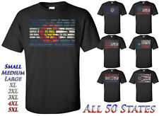 State flag ammo collage t-shirts - ammunition types -  S-2XL +sizes available