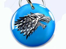 Stark wolf blue Game of Thrones GOT dog cat custom tag for pets by ID4PET 2
