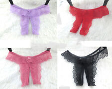 Sexy Underwear Lingerie Crotchless Sexy props Panties G-String/ Open Crotch