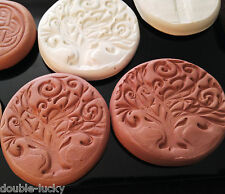 Terracotta Clay Strong AROMATHERAPY MAGNET for Essential Oils - TREE of LIFE