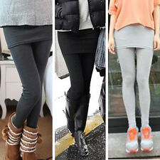 Winter Autumn Women's Mini *Band Skirt Leggings Footless Tights Stretch Pants
