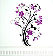 Delightful Flower Ornate - Wall Decal & Wall Sticker. Many colours. New!