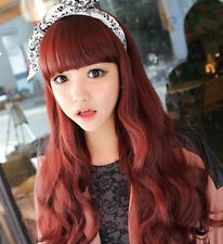 Fashion Female Vogue Stylish Sexy Long Wavy Curly Hair Perruque Wig 4 Colors
