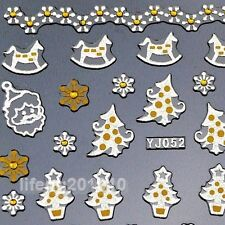 3D Nail Art Stickers Decals Decoration Christmas Tree Snowflake Gift Box Designs