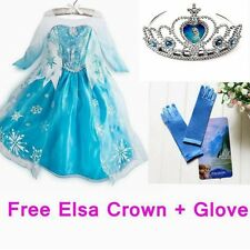 Hot Girls Dresses Disney Frozen Elsa Queen Costume Cosplay Princess Anna 3-8Y