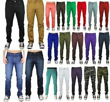 Mens Jeans Slim Fit Straight Skinny Fit Denim Trousers Casual Pants 14 color