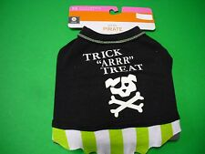 New ! Pet Tee Pirate Halloween Costume Glow in the dark for dogs only