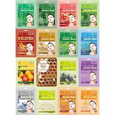 65pcs Set Bundle KOREA NEW LUS Moisture Food Essence face facial Mask Pack Sheet