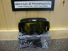 Castle X Snow Stage OTG Snowmobile Sno Racing Goggles Gloss Black or Matte Black