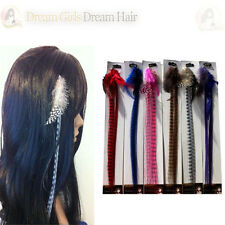 Grizzly Feather Clip in Hair Extensions bulk sale 20pcs 6 Colours avaliable