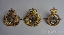 British Royal Navy Warrant Officer, Chief Petty Officer's or PO Beret Cap Badges
