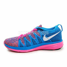 WMNS Nike Flyknit Lunar2 [620658-602] Running Pink Flash/White-Photo Blue