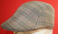 Mens checked Cap with preformed Peak , brown, 59 cm , large
